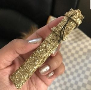 Michele glitter gold watch strap 18mm